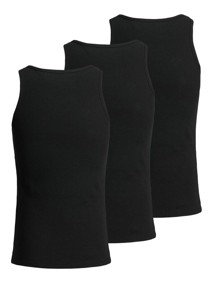 3-PACK LOGO RIB TANK TOP, Black, large