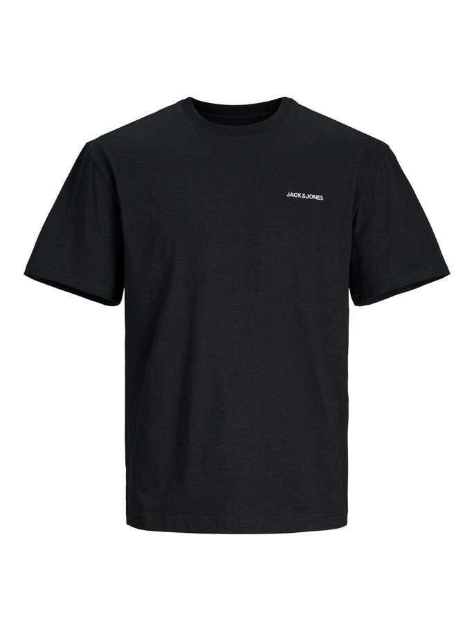 BIO-BAUMWOLLE RELAXED FIT T-SHIRT, Black, large