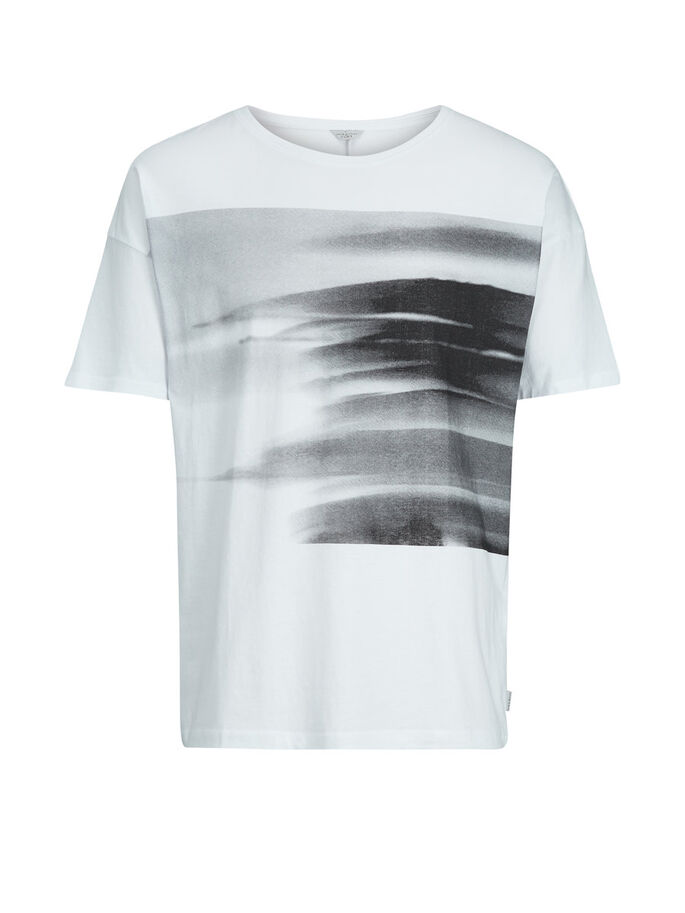 GRAFISCHES T-SHIRT, White, large