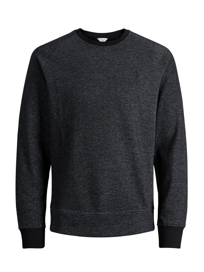LÄSSIGES SWEATSHIRT, Black, large