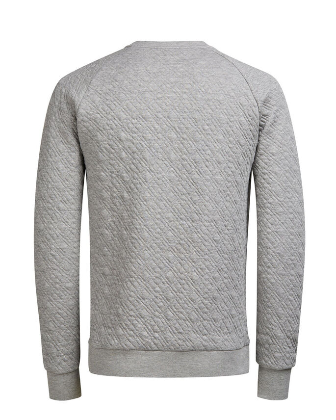 QUILTET SWEATSHIRT, Light Grey Melange, large