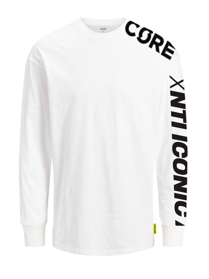 PLACEMENT-PRINT LONGSLEEVE, White, large