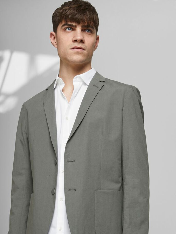 TWILL SLIM FIT BUSINESS SHIRT, White, large