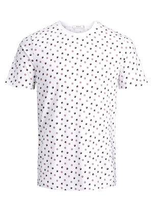 JACK & JONES Minimalprint T-shirt Herren White | 5713736950987