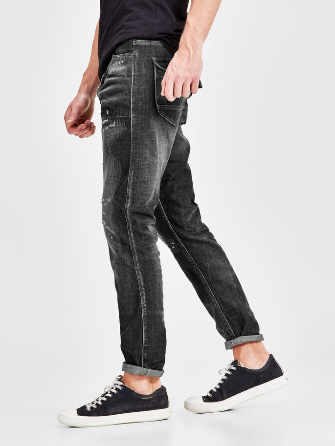 ERIK CRAFT BL 685 ANTI-FIT JEANS, Black Denim, large