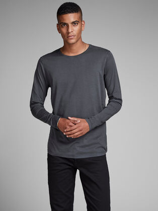 1adaa541fd34 Mens Long sleeve T-shirts | White, Black & More | JACK & JONES
