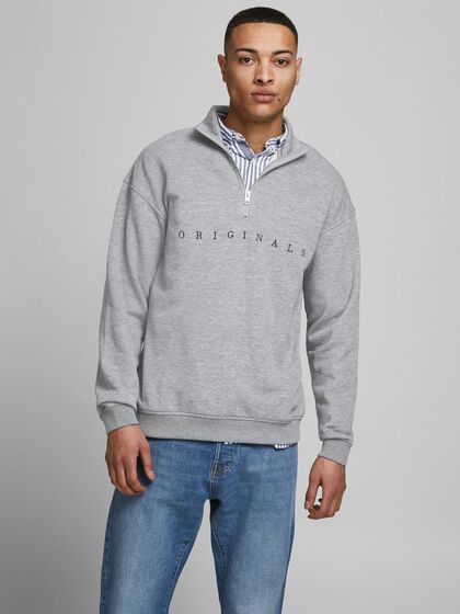FERMETURE ÉCLAIR PARTIELLE SWEAT-SHIRT