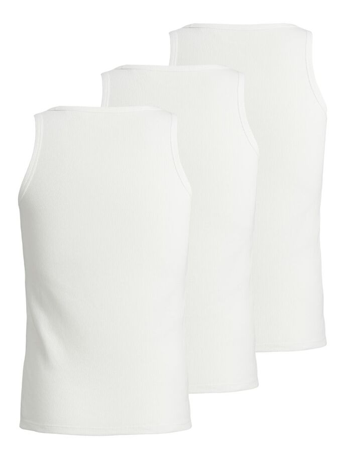 3-PACK RIB TANK TOP, Blanc de Blanc, large
