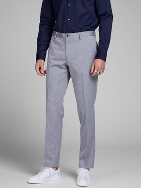 GREY MELANGE TROUSERS