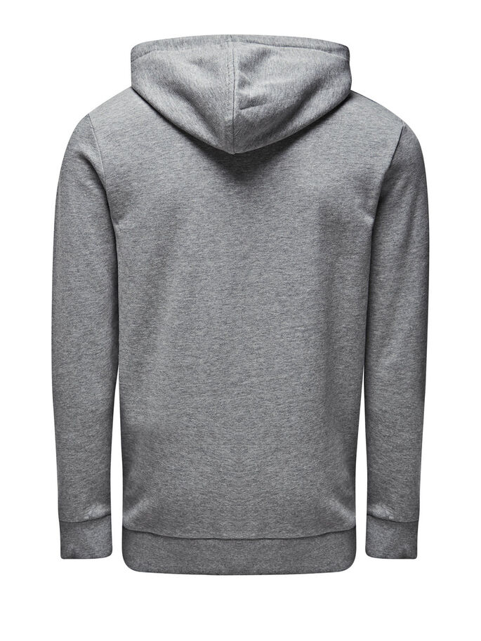 SWEAT-SHIRT ZIPPÉ SWEAT-SHIRT, Light Grey Melange, large