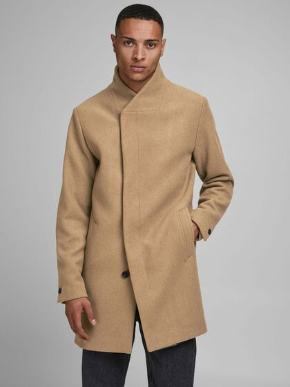 RECYCLED WOOL BLEND COAT