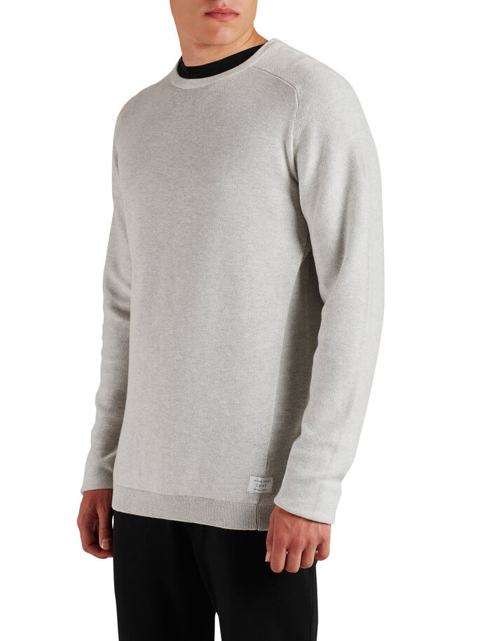 CLASSIC KNITTED PULLOVER, Treated White, large