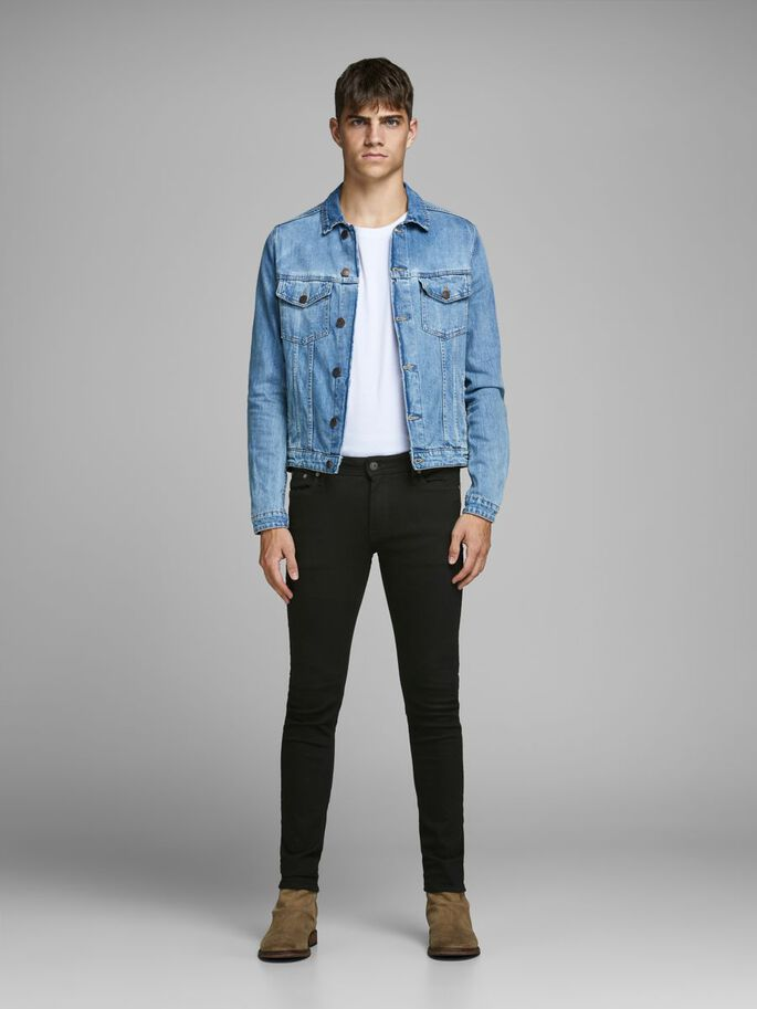 LIAM ORIGINAL AM 009 JEANS SKINNY FIT, Black Denim, large