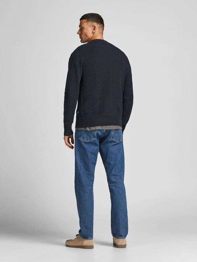 HENLEY KNITTED PULLOVER, Deep Well, large