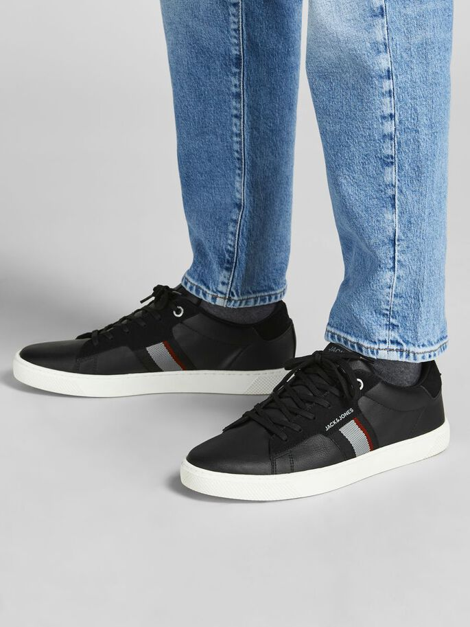 COATED FAUX LEATHER SNEAKERS, Anthracite, large