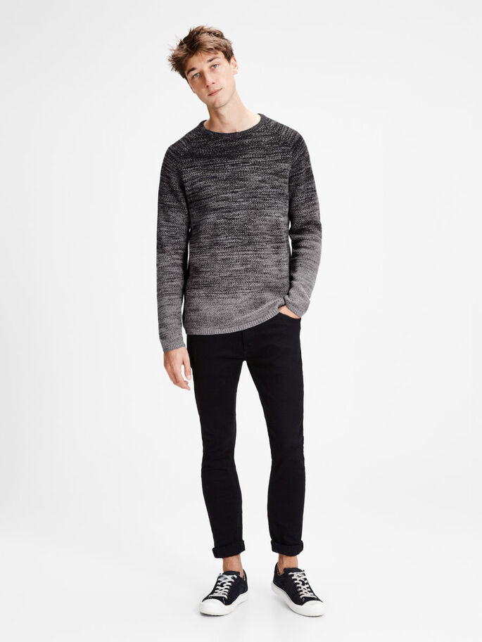CASUAL KNITTED PULLOVER, Tap Shoe, large