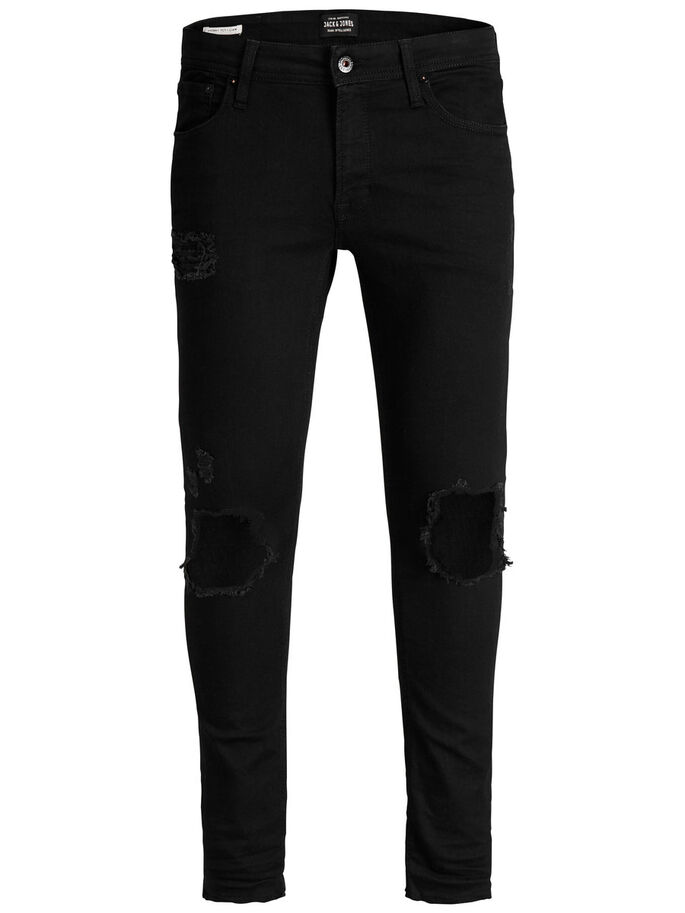LIAM ORIGINAL 071 50SPS SKINNY JEANS, Black Denim, large