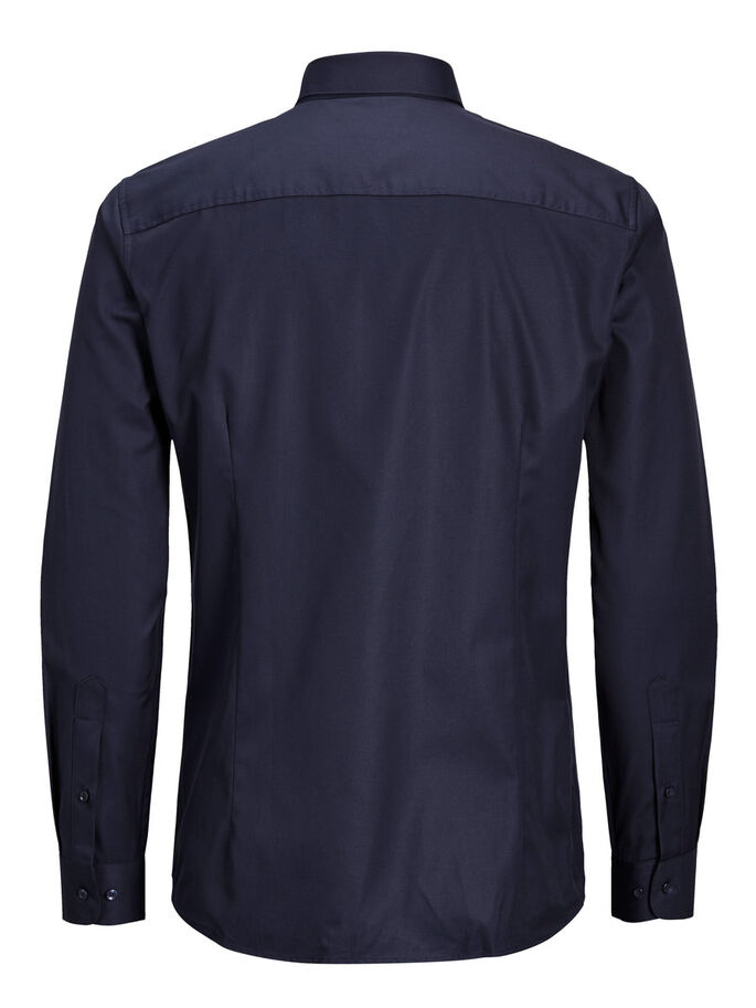BUSINESS OVERHEMD MET LANGE MOUWEN, Dark Navy, large