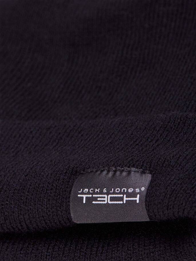TECHNICAL BEANIE BEANIE, Black, large
