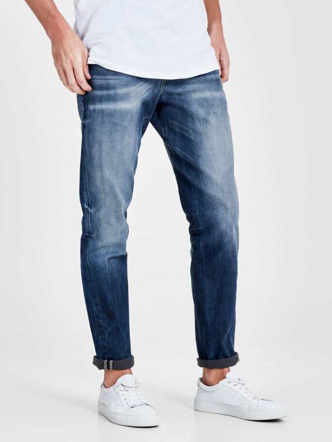 MIKE RON JOS 254 JEAN COUPE CONFORT, Blue Denim, large