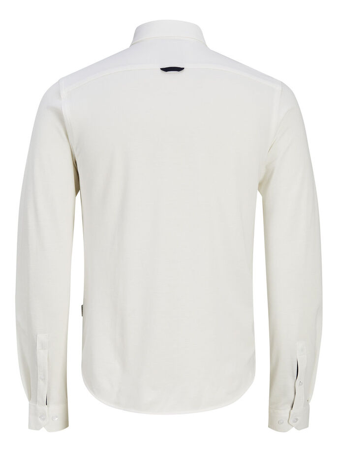 CLASSIC LONG SLEEVED SHIRT, White, large