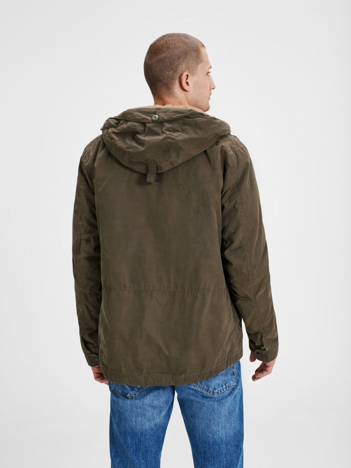 GEWACHSTER PARKA, Sea Turtle, large