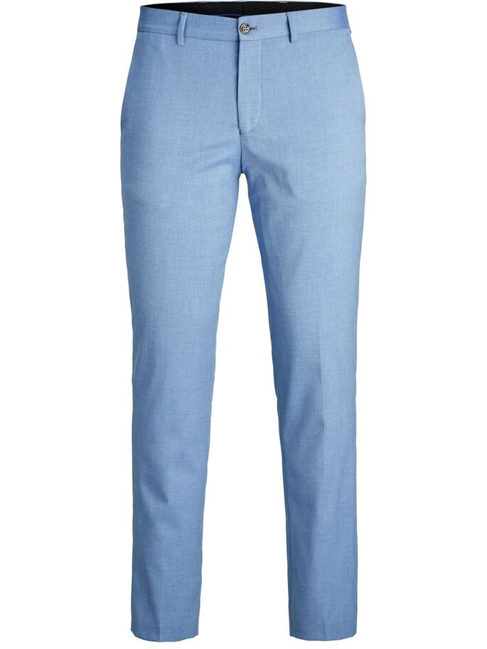 SUPER SLIM FIT SUIT TROUSERS, Chambray Blue, large