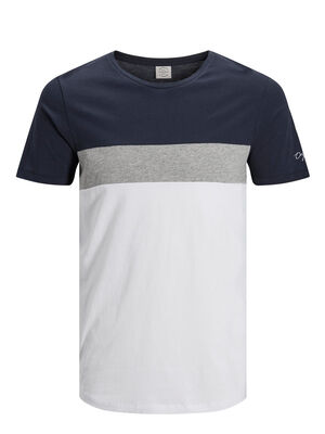 JACK & JONES Colour-blocking T-shirt Herren Blau | 5713737254084