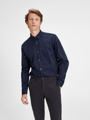 BUTTON-UNDER CAMICIA A MANICHE LUNGHE