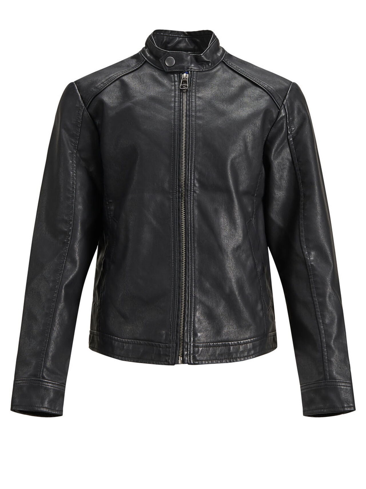 JACK & JONES Boy's Biker Jacket Men Black