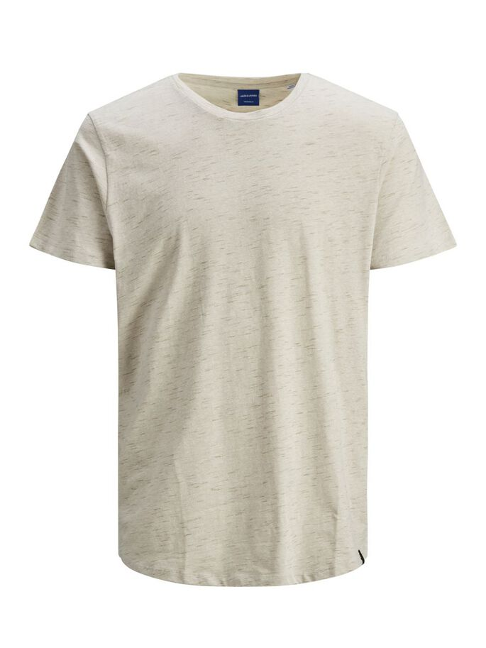 OVERSIZE MELANGE T-SHIRT, Crockery, large