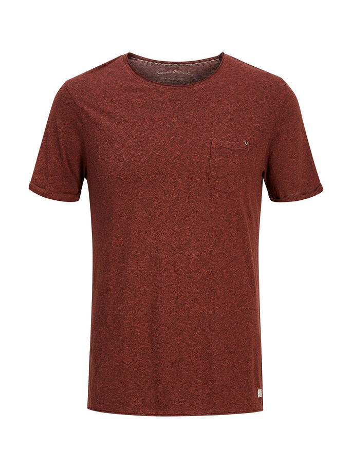 PLAIN T-SHIRT, Burnt Henna, large