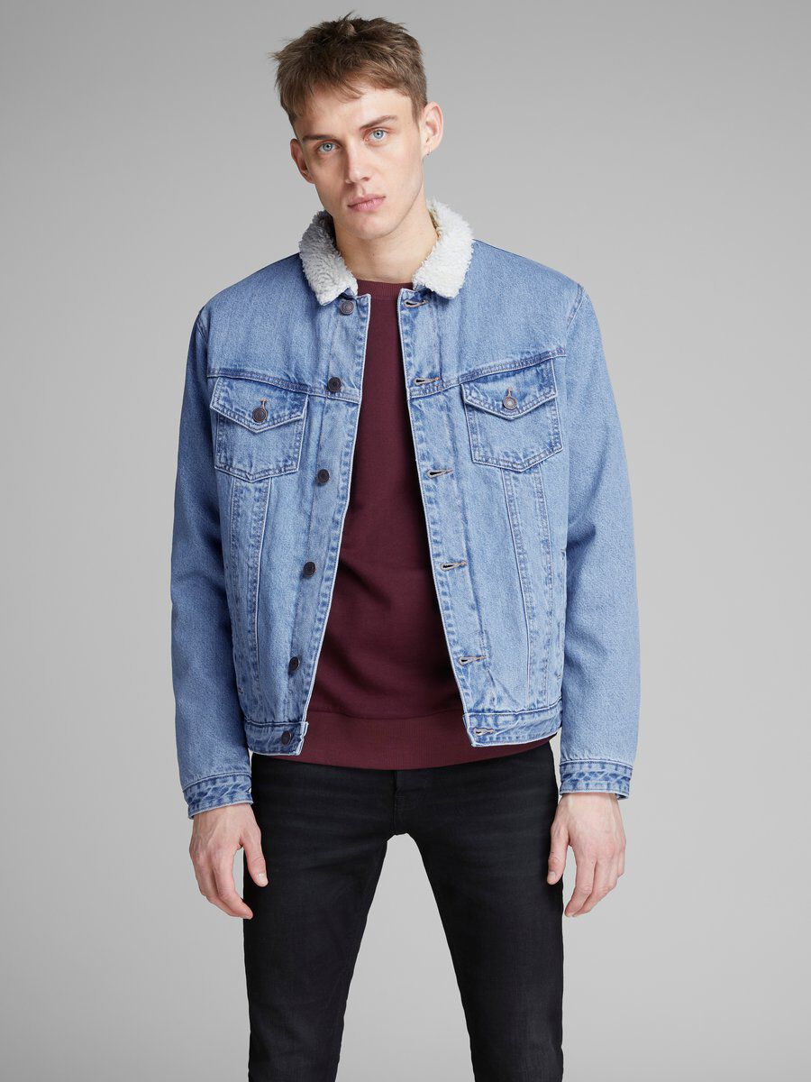 Denim Jacket Jones Casual Men Jack Blue amp; q4CpTwnP