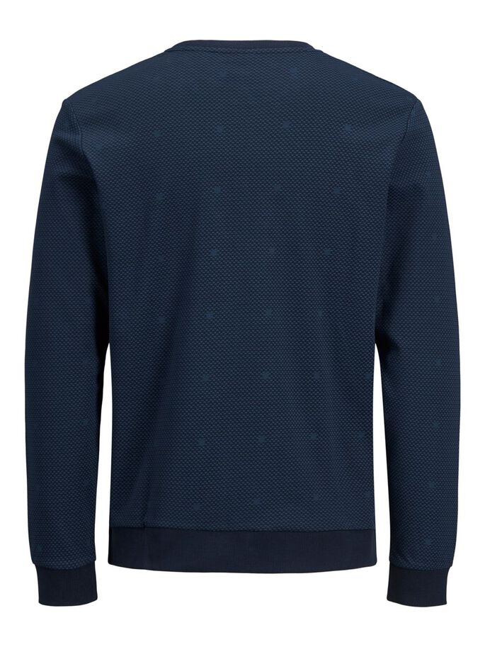 INTERLOCK ALL-OVER PRINT SWEATSHIRT, Sky Captain, large