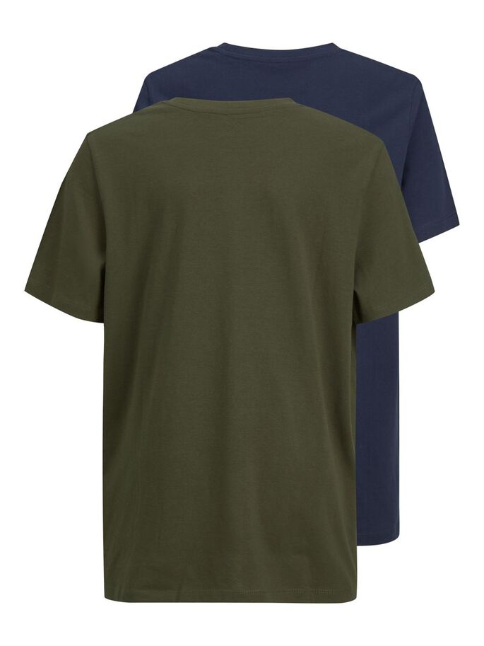 JUNGS 2ER-PACK LOGOPRINT T-SHIRT, Forest Night, large