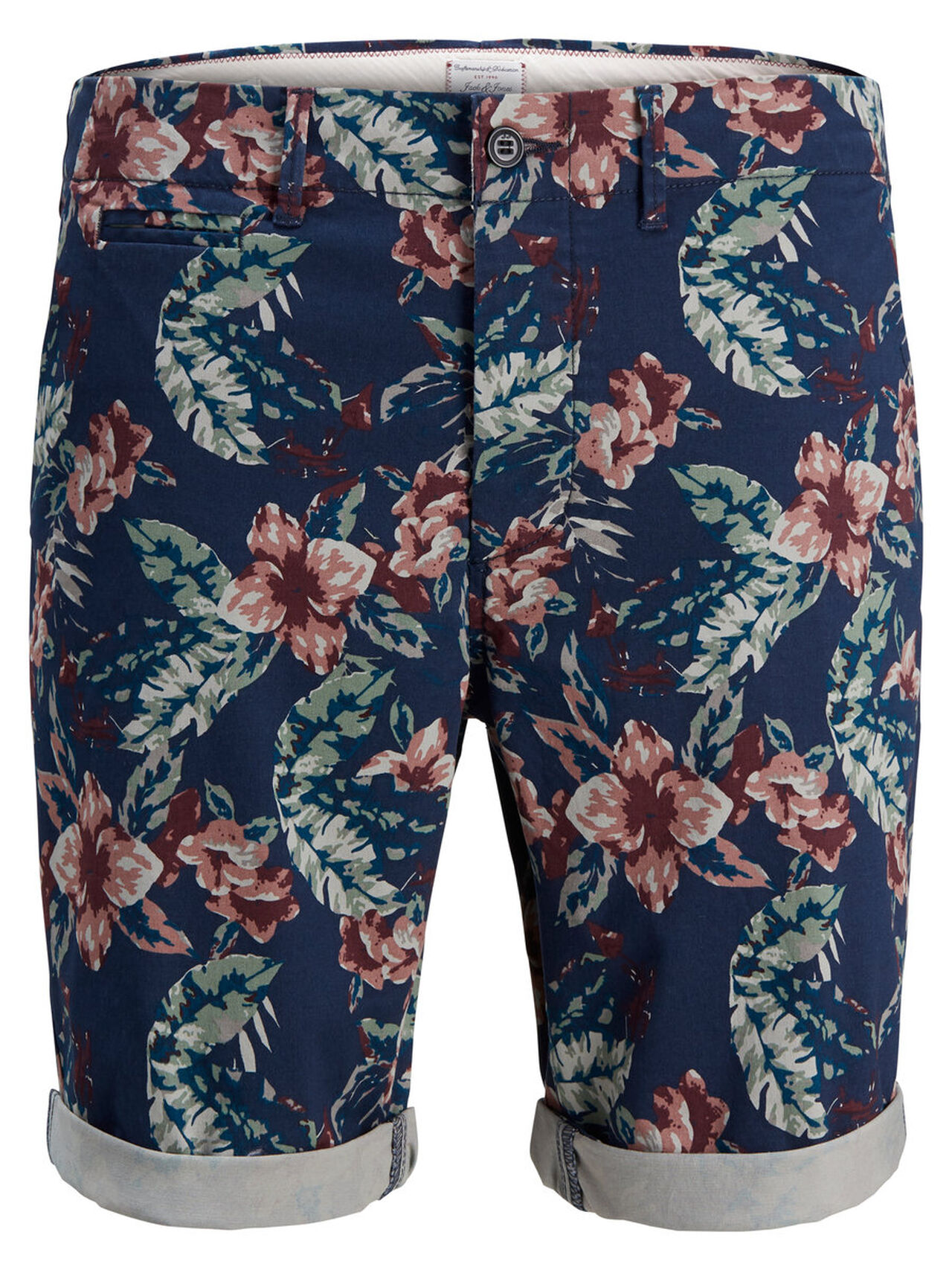 JACK & JONES Enzo Ww Print Camp Chino Shorts Men blue