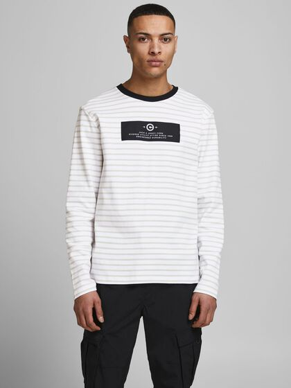 GESTREIFT LOOPBACK SWEATSHIRT