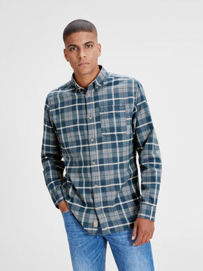 INDIGO LONG SLEEVED SHIRT