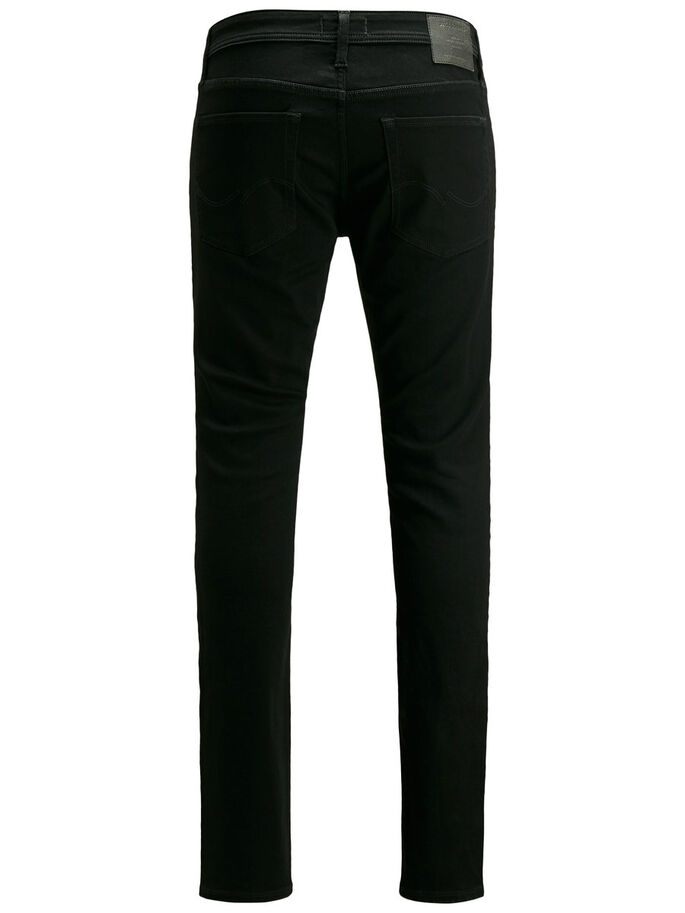 LIAM ORIGINAL AM 693 SKINNY FIT JEANS, Black Denim, large