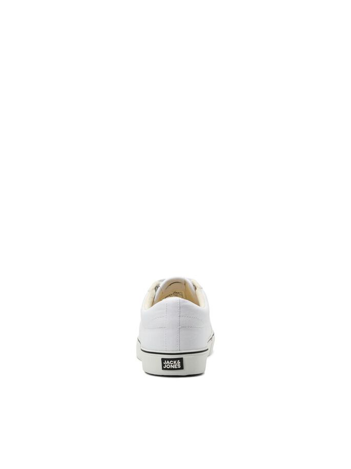 LOGO CANVAS SNEAKERS, White, large