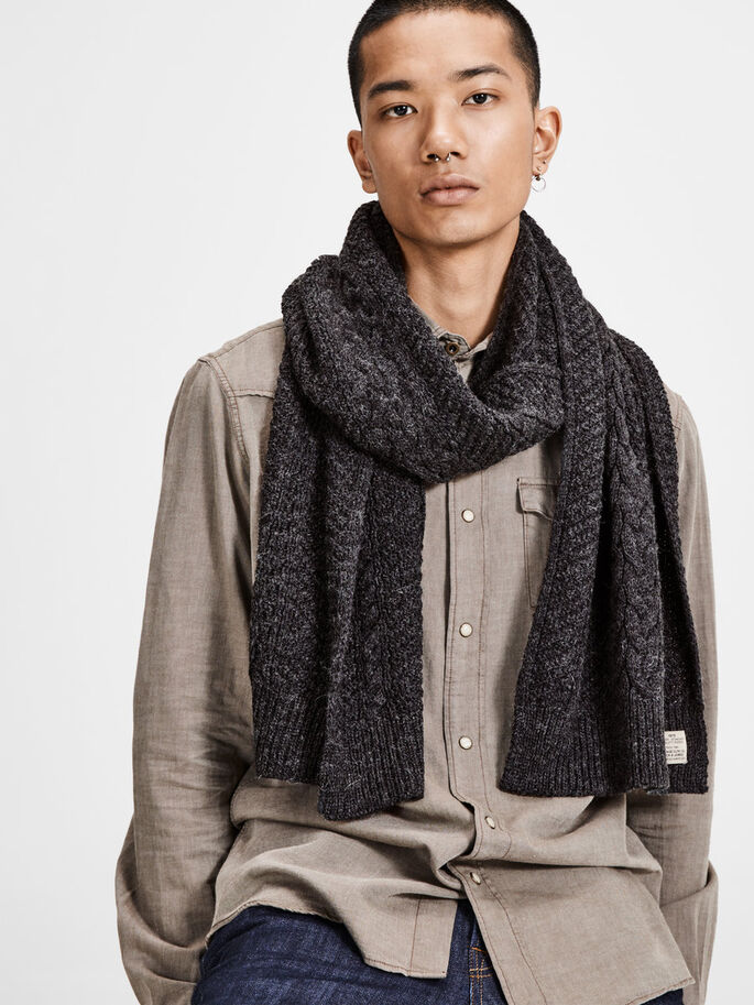 WOLMIX SJAAL, Dark Grey Melange, large