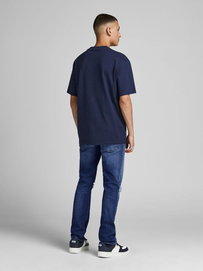 TIM ORIGINAL SPK 001 SLIM/STRAIGHT FIT JEANS, Blue Denim, large