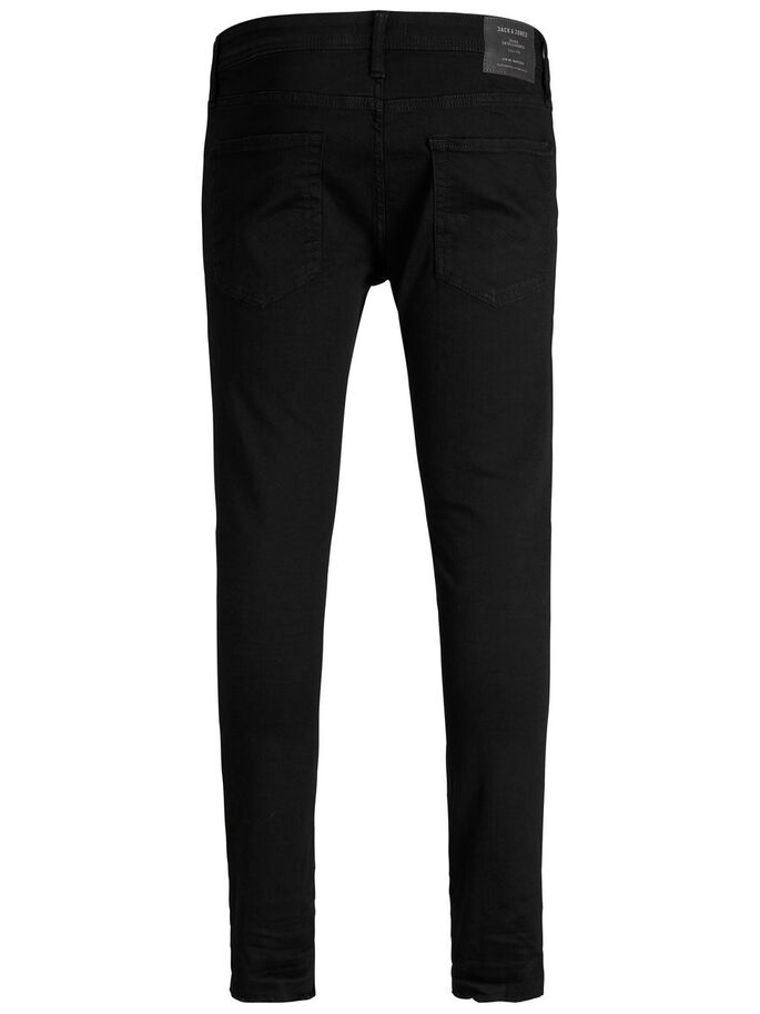 LIAM ORIGINAL 071 50SPS SKINNY FIT JEANS, Black Denim, large