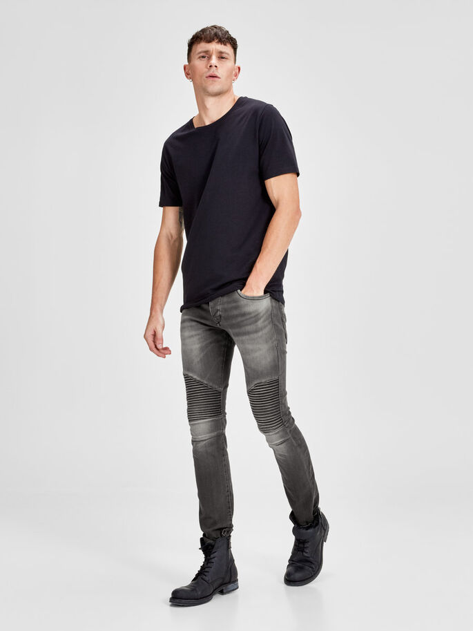 GLENN RYDER JOS 106 SLIM FIT JEANS, Grey Denim, large