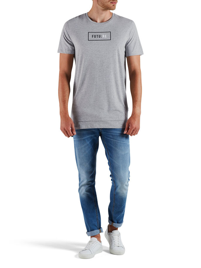 GRAPHIQUE T-SHIRT, Light Grey Melange, large