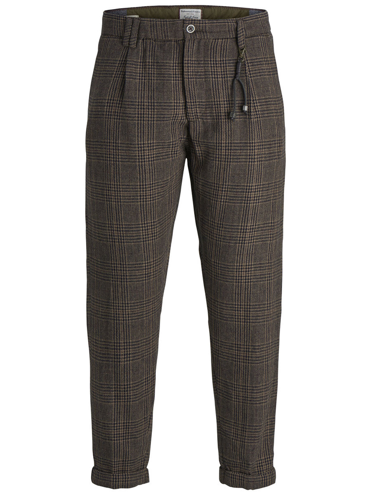 Ace Milton Check Brown Stone Trousers