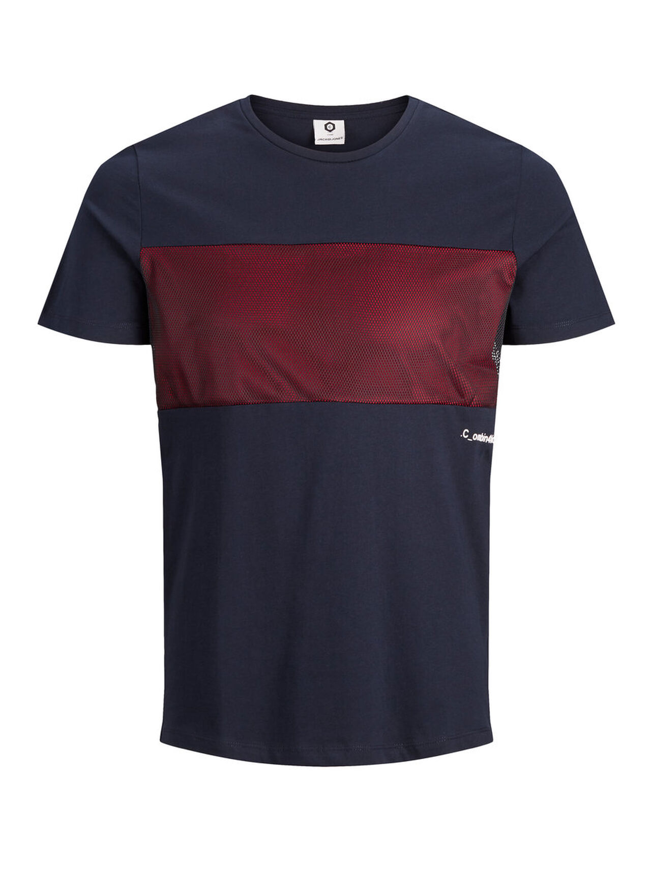 JACK & JONES Printed Slim Fit T-shirt Men Blue